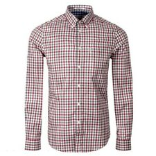 Ben Sherman Mens Retro Mod House Gingham 60s Long Sleeve Shirt, Small