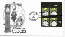 US Scott #3757, First Day Cover 1/24/03 Tucson Plate Block Clocks