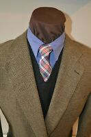 Ermenegildo Zegna mens 2btn brown tan tweed sport coat jacket blazer e56L US42R