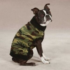 NWT XS Classic Green Camo Pattern Dog Sweater