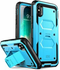 For iPhone X / Xs i-Blason Full-Body Kickstand Case with Glass Screen Protector