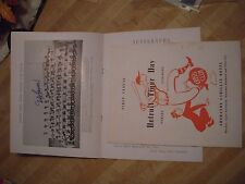 Autographed Detroit Tigers Day 1956 Dinner Program Ned Garver MLB Collection