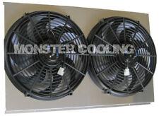 "Malibu/Chevelle/El Camino Aluminum Radiator Fan Shroud & 2-14"" Fans -17""H x 28"