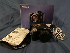 Canon PowerShot S5 IS 8.0MP 12x Optical Zoom Digital Camera Black Used PC1234