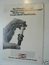 A081- CHAMPION BOUGIE ADVERTISEMENT 1980 MOTORCYCLE