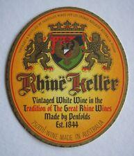 PENFOLDS RHINE KELLER WHITE WINE THIN COASTER
