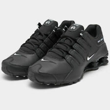 NEW Nike Shox NZ EU Casual Shoes Men's Size 9.5 Black Leather 501524 091