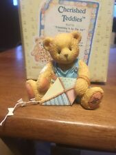 """New 1993 Cherished Teddies """"Friendship Is In The Air"""" March Bear #914770"""