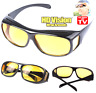 HD Anti Glare Night Vision Driving Sunglasses Unisex Over Wrap Around Glasses HD