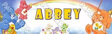 """Care Bear Poster 30"""" x 8.5"""" Personalized Custom Name Painting Printing"""