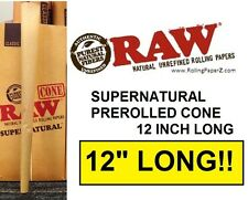 "SUPERNATURAL Pre Rolled RAW Rolling Paper 12"" LONG CONE - ""The Big Weekender!"""