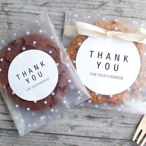 Self Adhesive Cute Plastic Bag Cookie Candy Gift Packaging Package Bags ONE