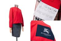 Women's BURBERRY LONDON Jacket Coat Blazer Red Size 40 Nova Check Plaid