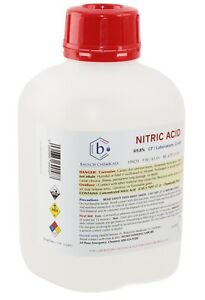 Bausch Nitric (HNO3) Acid 69.8% 1L CP Laboratory Grade Gold and Silver Refining