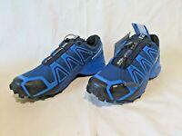 Salomon Speedcross 4 Mens Sz 7.5M Blue Depth 4 CS  Trail Running Shoes