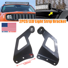 Refit Off-road Windshield Mounting Bar Rack Bracket Roof LED Light Strip Bracket
