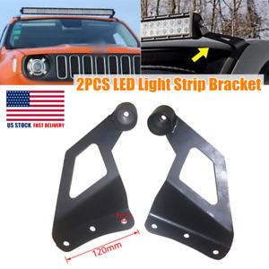 Refit Off-road Windshield Mounting Bar Rack Bracket Roof LED Light Strip Bracket