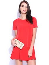 BNWT Mango Red Fluted Hem Dress XS Size 6