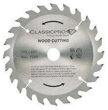 ClassicPro 165mm X 24t TCT Circular Saw Blade Dewalt Makita Ryobi Bosch UK
