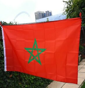 MOROCCO FLAG - MOROCCAN NATIONAL FLAGS 5x3ft.