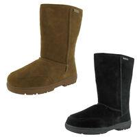 """Bearpaw Meadow Women's Suede Sheepskin Lined 10"""" Winter Snow Boots"""