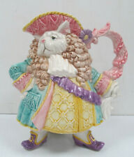 More details for 1990 fitz & floyd reigning cats & dogs collection pitcher: louis xiv cattorze