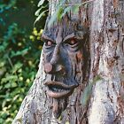 Tree Face Sculpture Spirit Of The Woods Magical Outdoor Yard Decor Old Man Faces