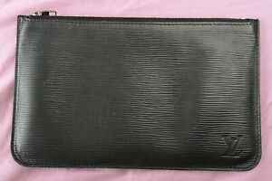 Louis Vuitton Women's Black Epi Leather Zipped Pouch Used Condition
