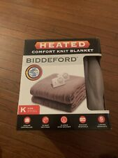Biddeford Comfort Knit Fleece Electric King Size Blanket, Taupe