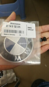GENUINE BMW Hood Emblem Roundel with Grommets INCLUDED- 82mm (OEM# 51148132375)