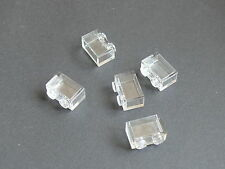 Lego 5 briques transp 10123 10200 6092 / 5 transclear brick Without bottom  tube