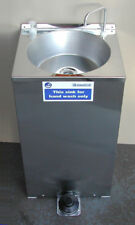 Portable Hot Hand Wash Sink St Steel cupboard design 20lts. Foot Pump Operation