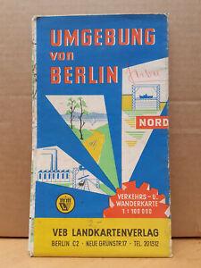 DDR-Wanderkarte Umgebung von Berlin Nord, VEB Landkartenverlag ca. 1961