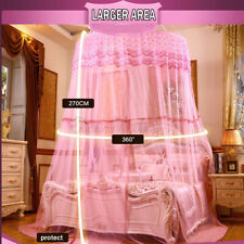 Mosquito Net Elegant Round Lace Insect Bed Canopy Netting Curtain Dome