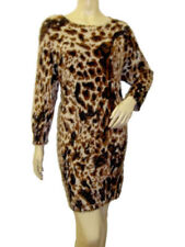 Woman's Animal Print Knitted Mohair Feel Bodycon Tunic Dress- Size M/L