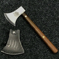 Survival Axe Outdoor Wood Chopping Viking Type Light Bearded Hatchet With Handle