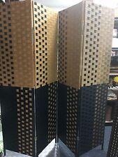 4-leaf Folding Screen Bamboo Rattan Privacy Screen Room Divider 竹屏风