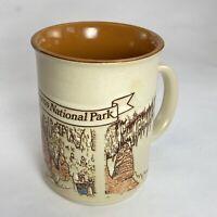 Vintage Souvenir Carlsbad Caverns National Park New Mexico Art Coffee Tea Mug