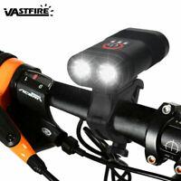 2 LEDs Fahrradlampe Fahrradbeleuchtung USB Wiederaufladbare AKKU Fahrradlicht DE