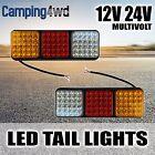 2x 75 LED Tail Rear Lights 12V 24V Multivolt Trailer Truck Stop Lamp Caravan ADR