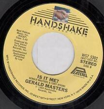 GERALD MASTERS Poor Little Rich Boy 7 INCH VINYL USA Handshake 1980 B/W Is It Me