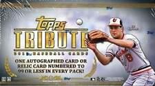 2013 Topps Tribute Baseball Factory Sealed Hobby Box - 6 High End Hits Per Box