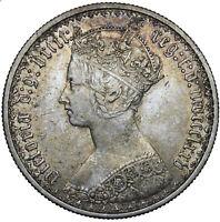1875 GOTHIC FLORIN - VICTORIA BRITISH SILVER COIN - NICE