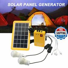 Solar Power Panel Generator System Led Light Lamp 5V Usb Charger Outdoor Garden