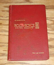 Original 1966 Rolls Royce Silver Shadow Owners Handbook 66