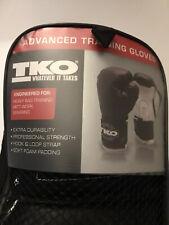 Tko w/ Bag 12 Oz Boxing Gloves - Black and White - Advanced Training Gloves