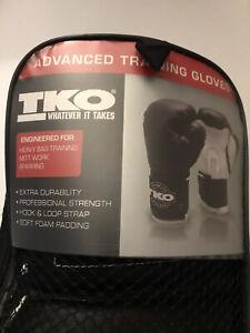 🥊TKO w/ Bag 12 OZ Boxing Gloves - Black and White - Advanced Training Gloves