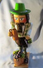 Vintage Steinbach Volkunst Wooden Nutcracker with grapes~ Germany 17 inches tall