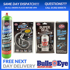 Car Air Con Bomb Top Up Kit charge Refill R-134a A/C With Gauge Super Seal STP