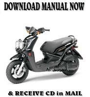 Yamaha ZUMA 50 / 125 factory repair shop service manuals on CD